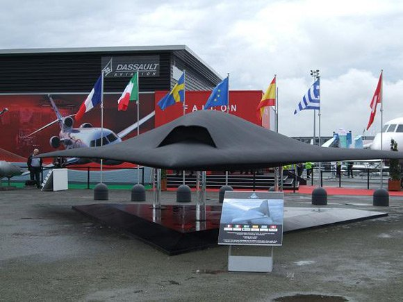 European stealth UCAV mockup at the Paris Airshow 09