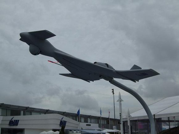 IMI loitering munition on display at Paris Airshow 09