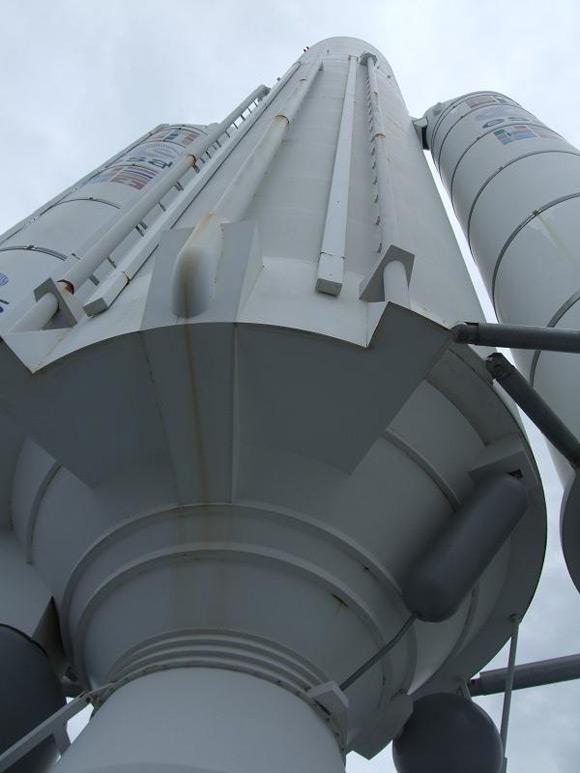 Ariane rocket exhibit at Le Bourget