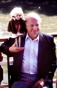 Gerry Anderson and Lady Penelope. Pic: BBC