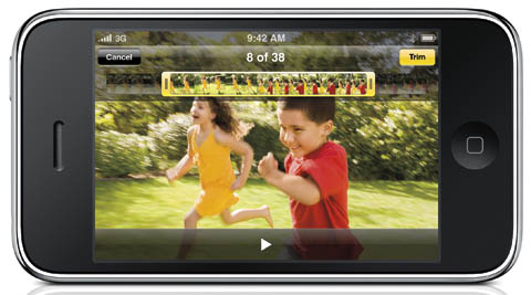 iPhone 3gs video editing