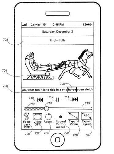 Apple karaoke patent-application illustration