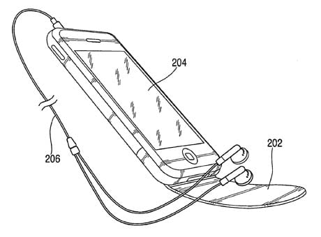 Apple mobile-phone noise-cancellation patent illustration