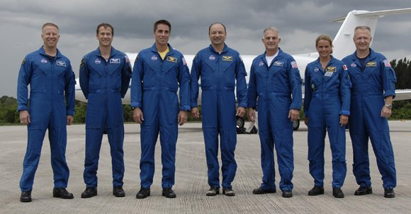 The Endeavour crew. Pic: NASA