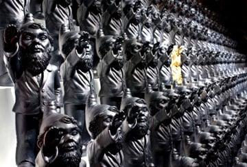 Ottmar Hörl's Nazi gnomes. Pic: Werner Scheuermann