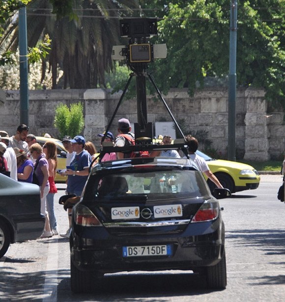 Street View spycar spotted in Athens
