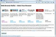 Microsoft's proposed Windows browser ballot screen