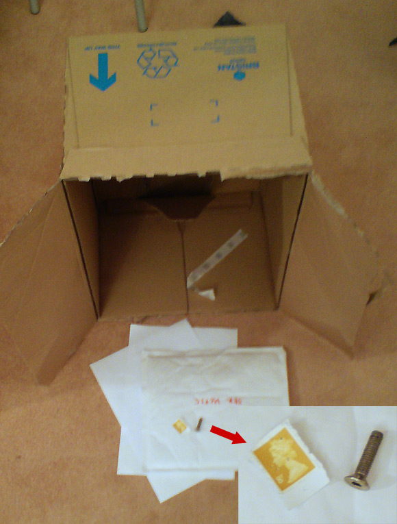 Bristan crams tiny screw into giant box