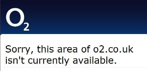 O2 Web Site Down