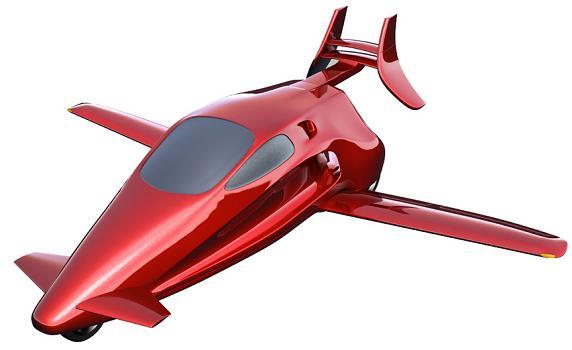 Concept of the Switchblade 'sky bike' by Samson Motorworks