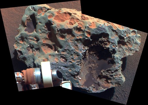 NASA close-in image of the 'Block Island' meteorite on Mars