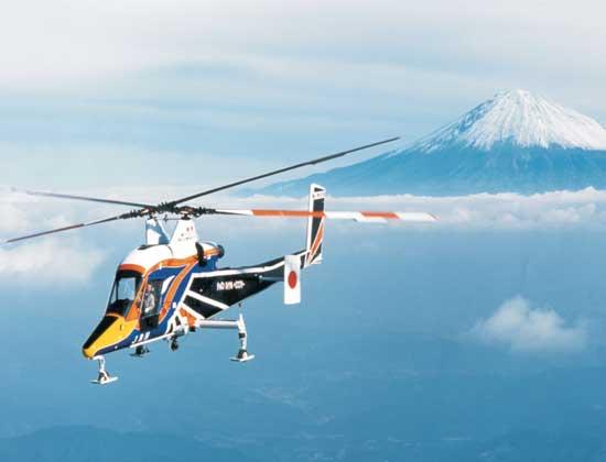 The Kaman K-MAX intermesh rotor helicopter. Credit: Kaman