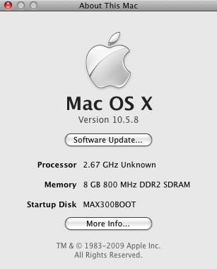 EFiX Mac About panel