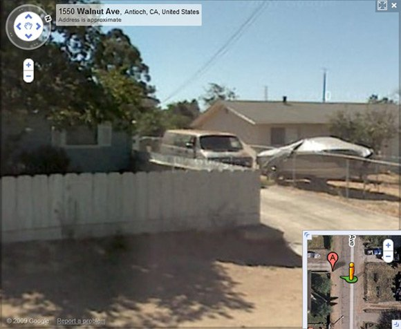Garrido's van caught on Street View emerging from his driveway?