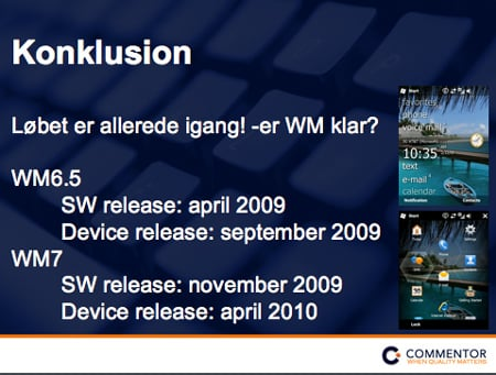 Commentor Windows Mobile Slide