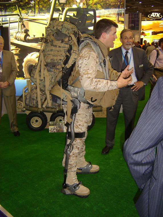 The HULC military exoskeleton on show at DSEi 2009