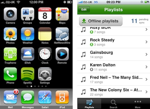 how to use spotify on iphone offline
