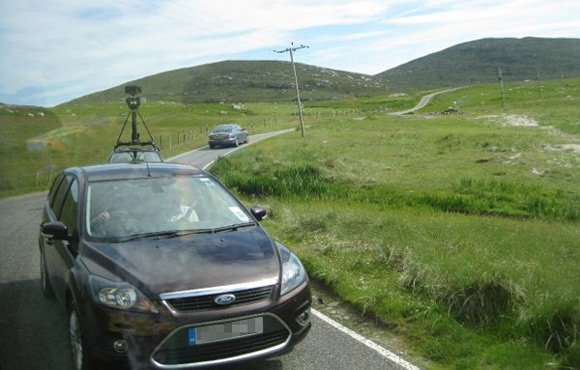 Street View spymobile spotted in North Uist