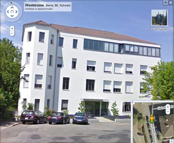 The Swiss data protection office seen on Street View