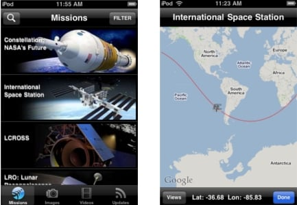 NASA iPhone App with ISS tracking | CQHQ