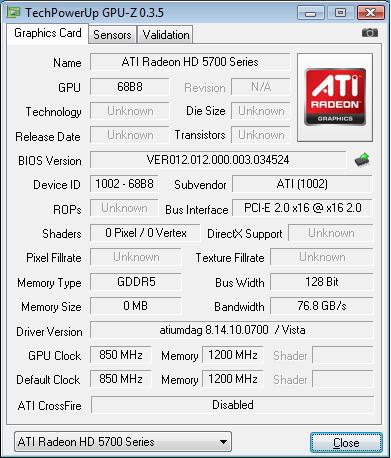 AMD ATI Radeon HD 5770