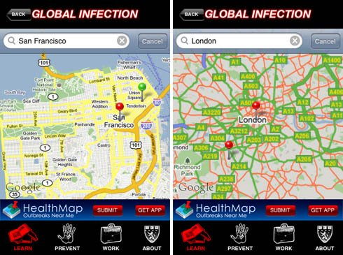 HMSMobile Swine Flu Center iPhone app