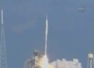 The launch of the Ares I-X. Pic: NASA TV