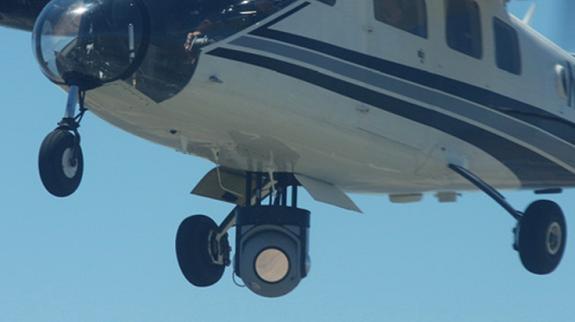 US air force airborne fibreless laser link. Credit: AFOSR