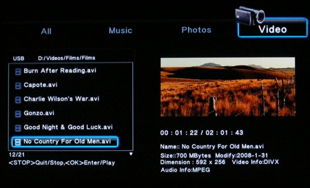 HiSense 1080p media player