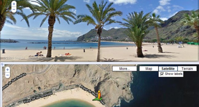 Google's recommended Street View view of the Canary Islands