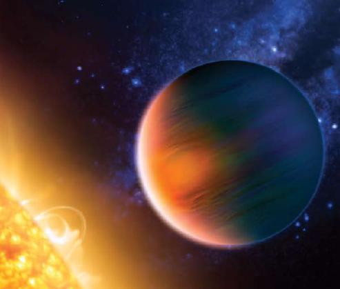 Artist's conception of a planet orbiting a far-off sun. Credit: ESO