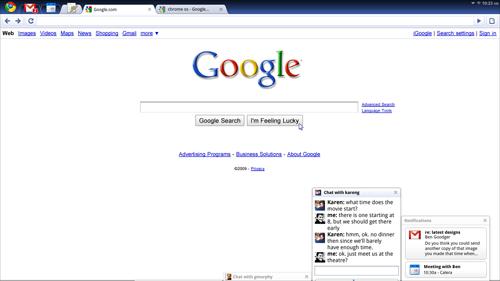 Chrome OS panels