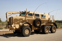 The Buffalo Mine Resistant Ambush Protected  vehicle.