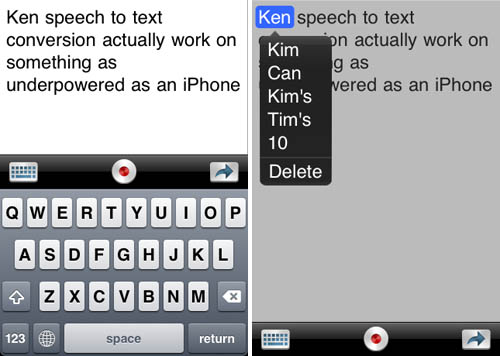 Dragon Dictation for the iPhone