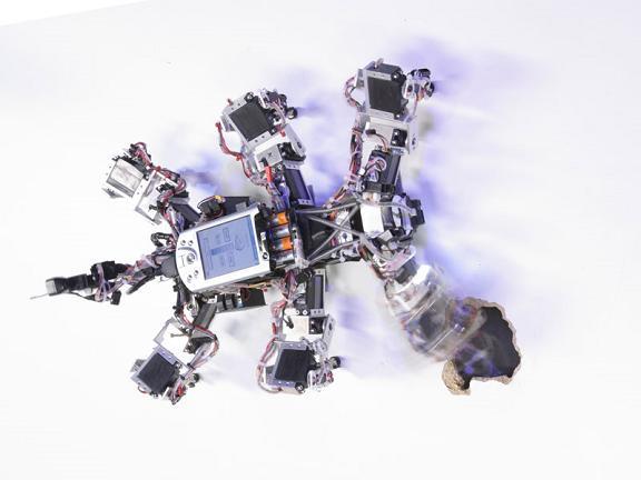 A chaos-controlled robot. Credit: Max Planck Gesellschaft