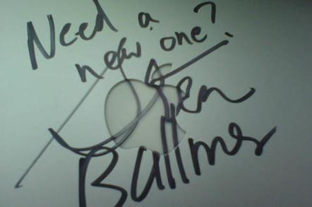 Steve Ballmer's signature on a Trevecca Nazarene University student's MacBook