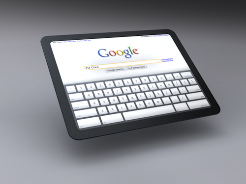 Chrome OS Tablet Mockup