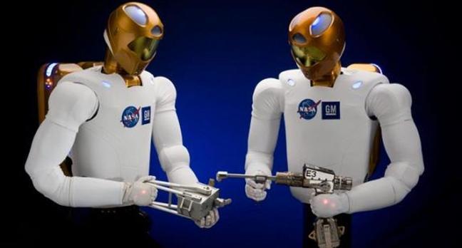Robonaut 2 with stuff. Credit: NASA