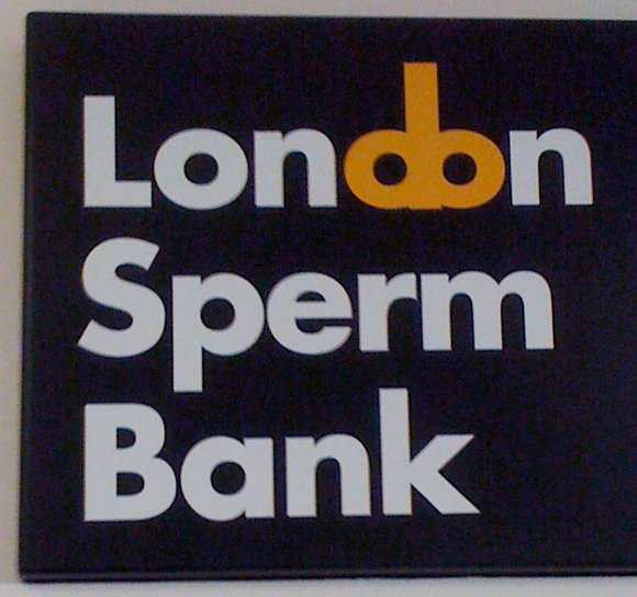 The London Sperm Bank logo, including stylised penis