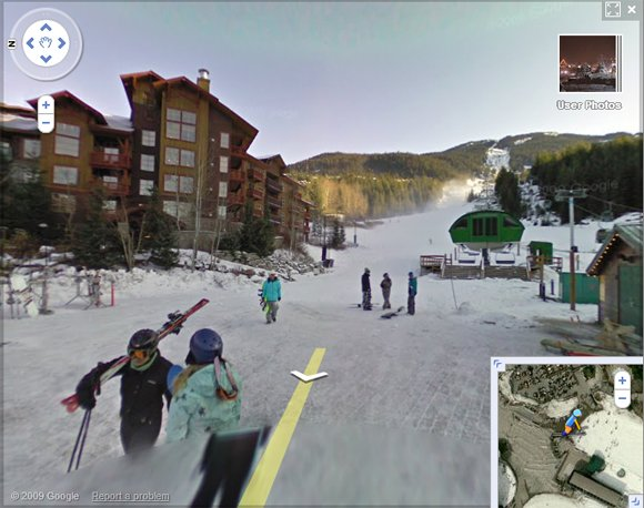 Whistler Creekside, seen on Street View
