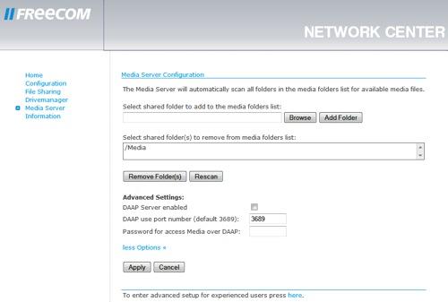 Freecom Network Media Centre