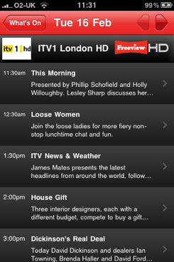 Freeview HD app