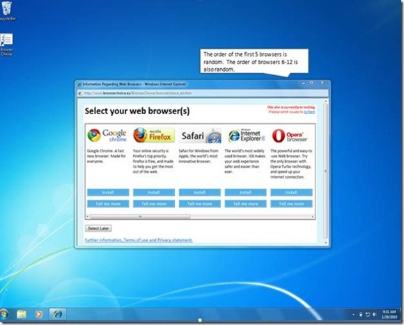 Microsoft browser ballot screen