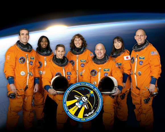NASA's group shot of the Discovery crew