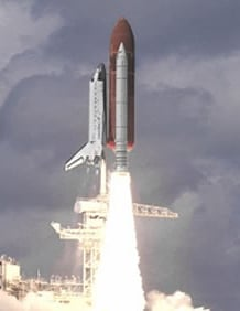 ATK picture of a shuttle launch