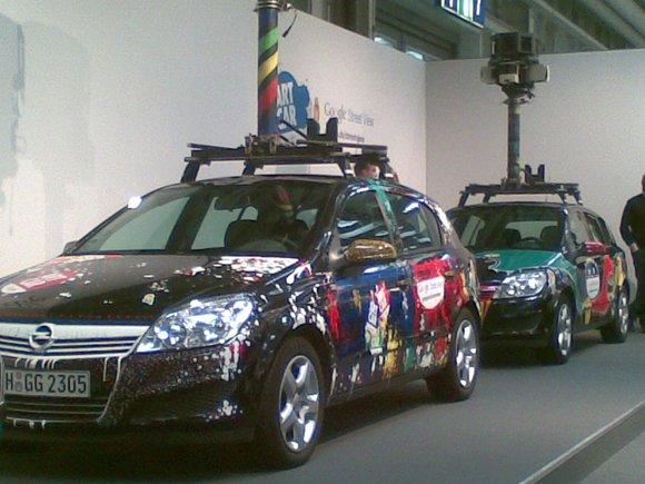 Google's Street View spymobiles at CeBIT