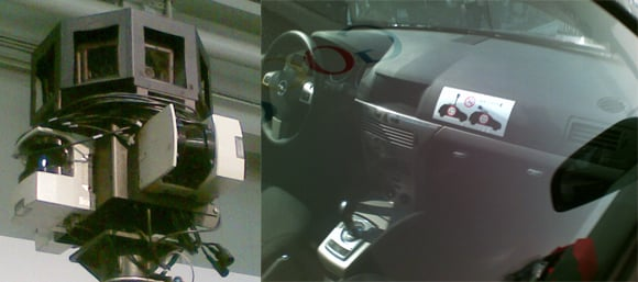 The spymobile's camera and interior