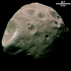 Mars Express image of Phobos. Pic: ESA
