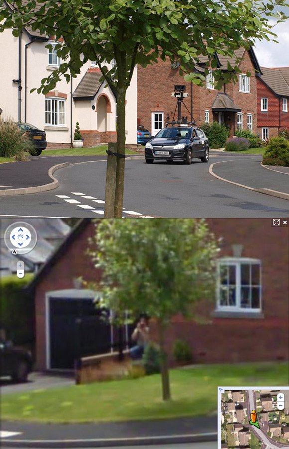 Our snapper caught on Street View in Trefonen