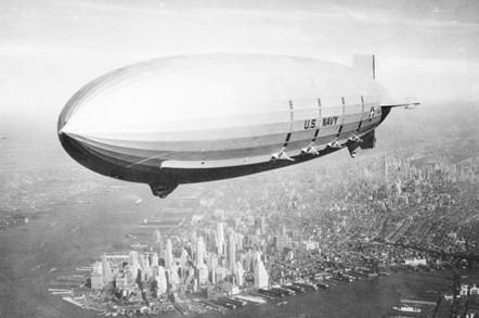 U.S.S. Macon over New York City - 1933